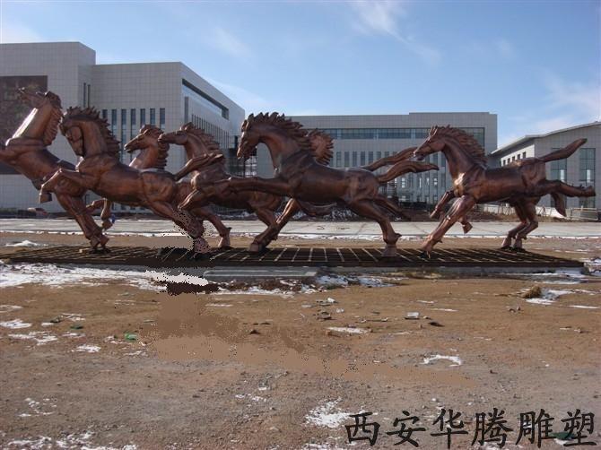 锻铜雕塑马