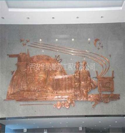 段铜雕塑浮雕